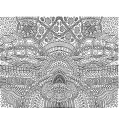 Psychedelic tribal outline symmetrical background vector
