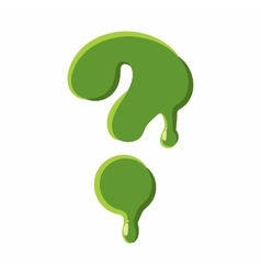 Question mark made of green slime vector