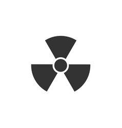 radiation icon flat vector image