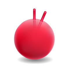 Red ball for fitness vector