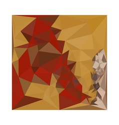 Red ginger abstract low polygon background vector