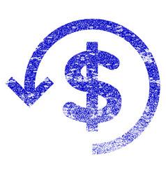 Refund grunge textured icon vector