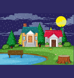 rural house nature scene vector image