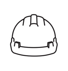 Safety helmet icon builder helmet protective vector