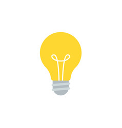simple flat light bulb isolated on white vector image
