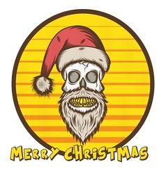 Skull Santa Christmas Edition vector image