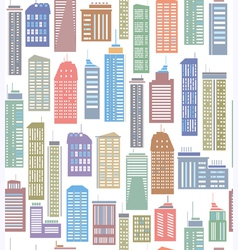 skyscraper seamless pattern vector image vector image
