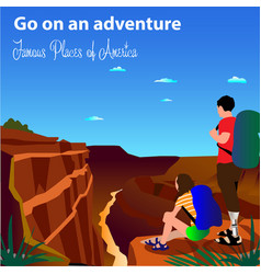slogan is forward to adventure girl and vector image