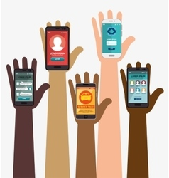 smartphone apps mobile design concept vector image