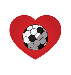 Soccer football love heart icon vector