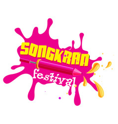 Songkran festival songkran is thai culture water vector