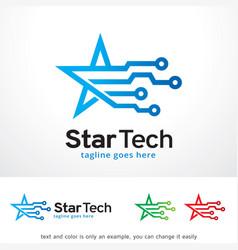Star tech logo template design vector