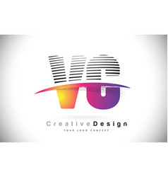 Vc v c letter logo design with creative lines and vector