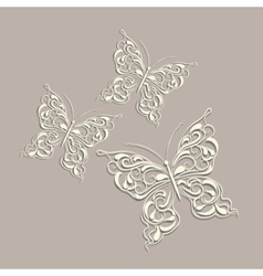 White paper butterflies vector image vector image