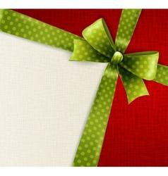 green polka dots bow vector image