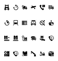 Logistics delivery icons 3 vector
