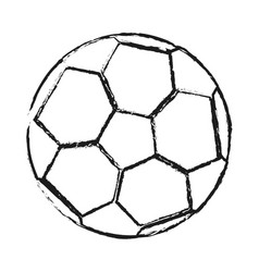 monochrome blurred silhouette of soccer ball vector image