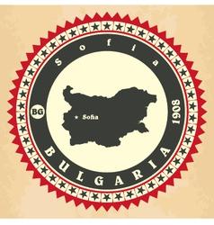Vintage label-sticker cards of Bulgaria vector image vector image