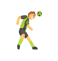 Football Player Smiling And Recieving The Ball On vector image vector image