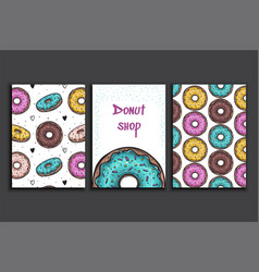 poster template with donuts advertising vector image vector image