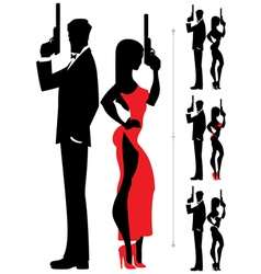 Spy Couple 3 vector image vector image
