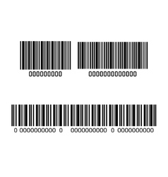 system bar code id product vector image