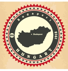 Vintage label-sticker cards of Hungary vector image vector image
