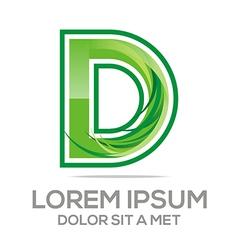 lettering d logo design vector image vector image
