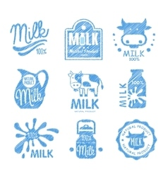 Milk and Dairy Labels vector image vector image