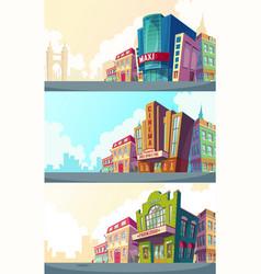 set cartoon of an urban vector image vector image