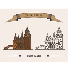 Boldt castle on heart island for tourist vector image vector image