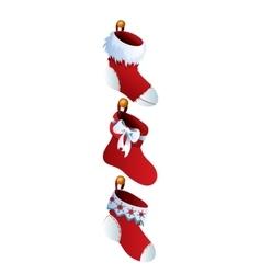Cute Christmas Socks set - cartoon vector image vector image