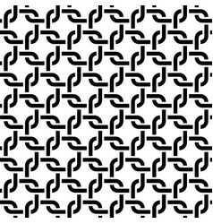 Monochrome rounded weave squares seamless pattern vector