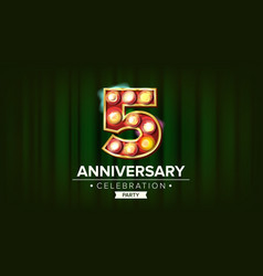 5 years anniversary banner five fifth vector image