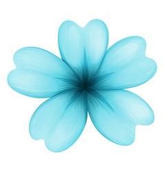 A blue five-petal flower vector