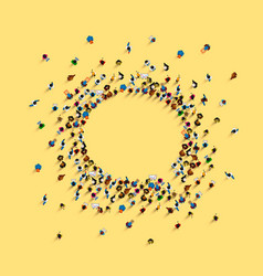 a group people shaped as a chat icon vector image