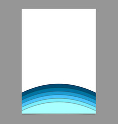 Abstract brochure template from blue curved vector