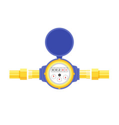analog water meter icon in flat style sanitary vector image