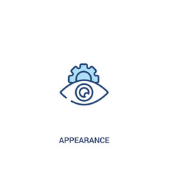 Appearance concept 2 colored icon simple line vector