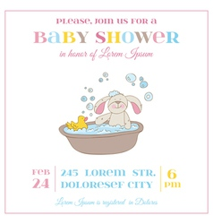 Baby shower or arrival card - bunny girl vector