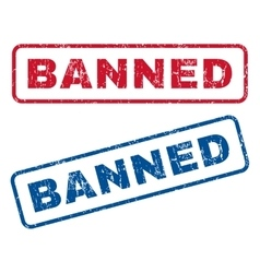 Banned Rubber Stamps vector