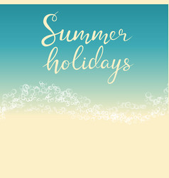 beach summer holiday template for flyer vector image
