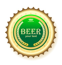 beer bottle cap vector image