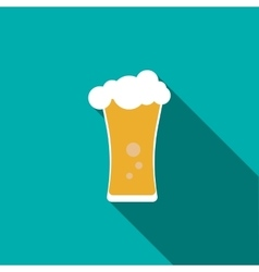 Beer glass icon flat style vector image