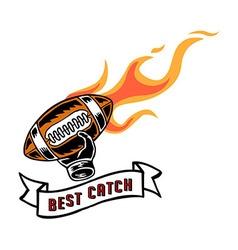 Best Catch Badge Hand Draw vector