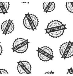 Best seller seal stamp seamless pattern vector