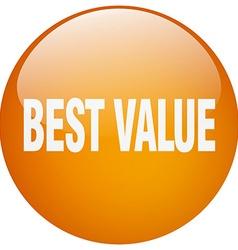 Best value orange round gel isolated push button vector