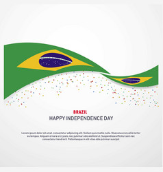 brazil happy independence day background vector image