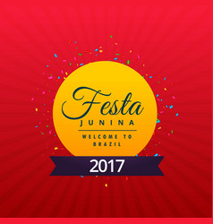 Brazilian festajunina holiday background design vector