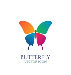 Butterfly conceptual icon Logo vector